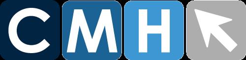 Logo colorato disposto orizzontalmente della CMH